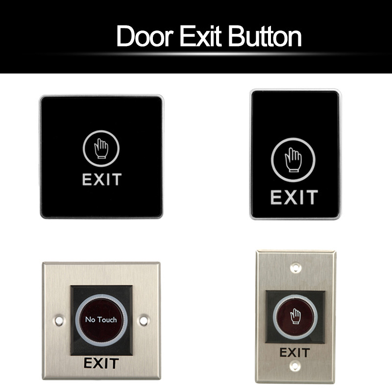 Door Exit Button Switch Touch Release Button Non-Touch Infrared Push Button For Door Acc ...