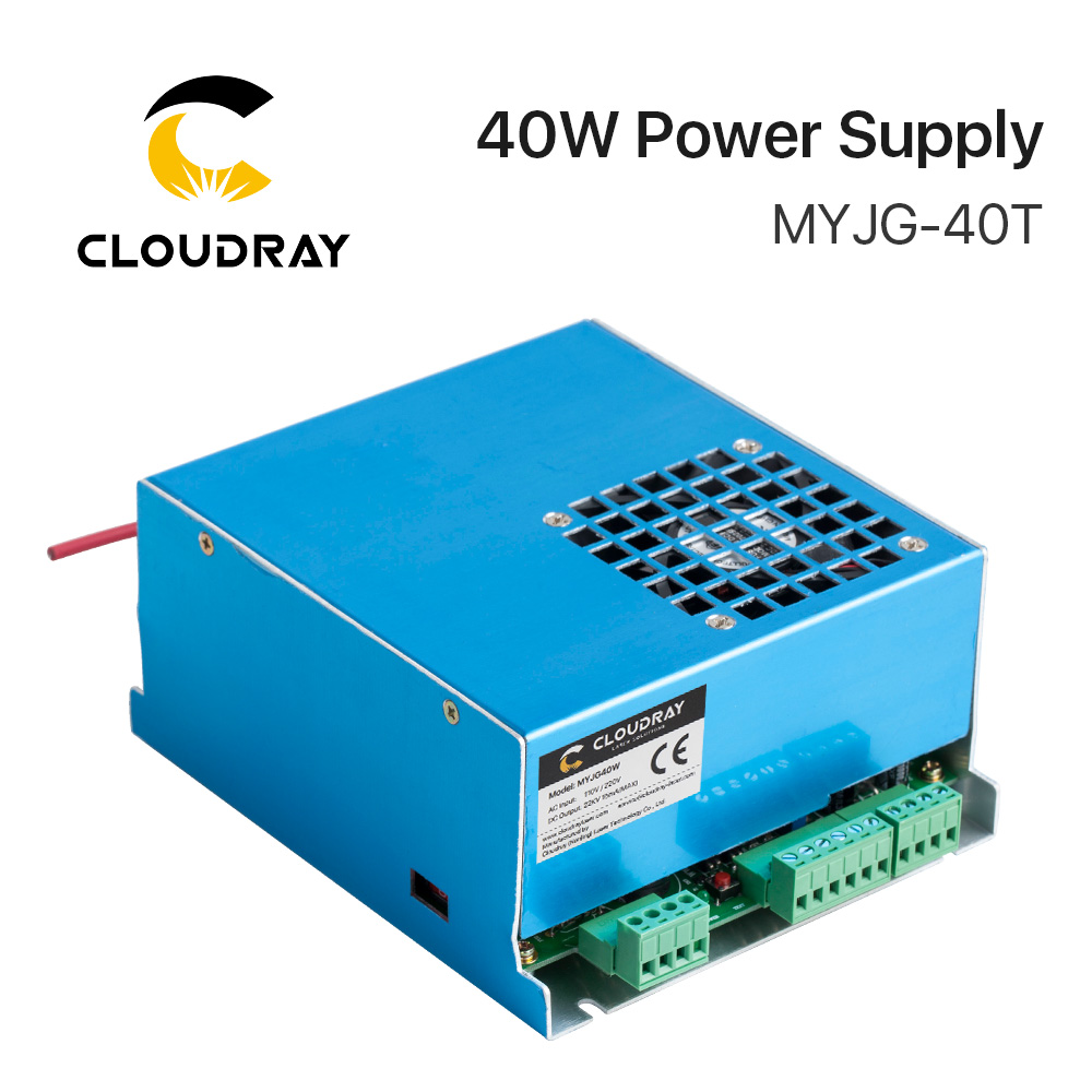 Cloudray 40W CO2 Laser Power Supply MYJG-40T 110V 220V for CO2 Laser Engraving Cutting Machine 35-50W MYJG co2 laser machine laser path size 1200 600mm 1200 800mm
