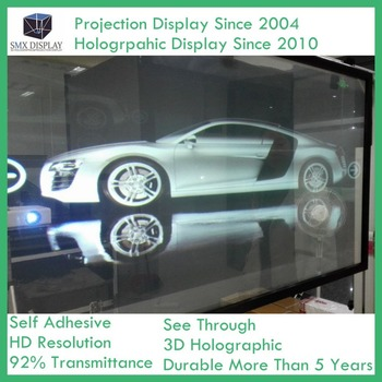 1.52x1m Holographic Rear Projection Film For Glass Window