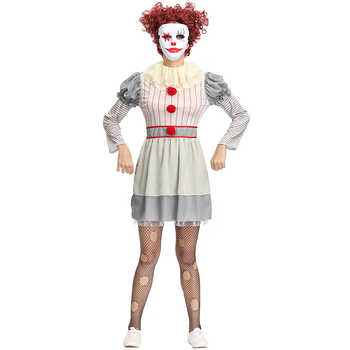 Women Halloween Horror Stephen King It Clown Pennywise Costume Costume Adult Ladies Carnival Fancy Party Dress Up Outfit - DISCOUNT ITEM  15% OFF All Category