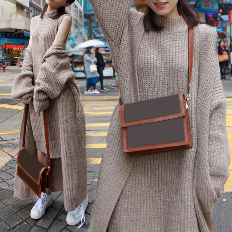 סתיו חורף אופנה סוודר שמלת חליפת פתוח מול ארוך סרוג אפודות שרוולים סריגה שמלת שתי חתיכה להגדיר