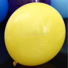 "Hot air balloon 50 pcs / lot Wedding Advertising Yellow Latex Balloon Toys 12 ""3.2 g is a Smooth Air Cylinder"