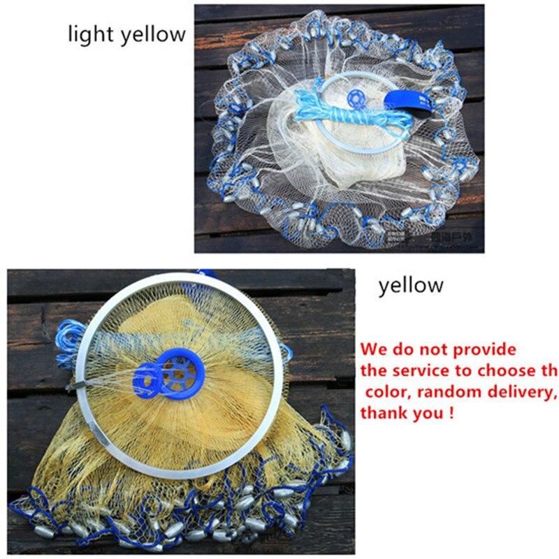USA Stil Nylon Cast Net Wurfnetz Fischfalle Runde Fischernetz China - Angeln - Foto 2
