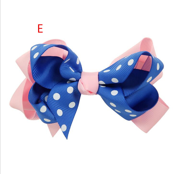 100pcs Handmade Double Layer Back to School Style Boutique 4 inch Hair Bow