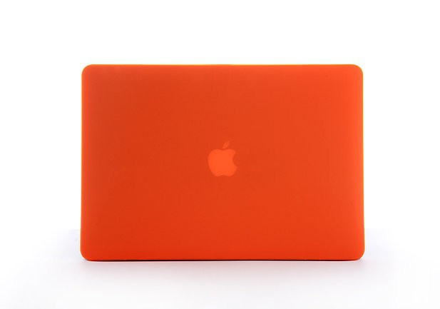 Orange Laptop Sleeve Case for Macbook Mac Book Retina 13 15 inch Matte Rubberized Non-slip Hard Notebook Protector Cover