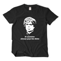Game Of Thrones Tyrion Lannister T Shirt A Lannister Always Pays Hs Debts Tee Peter Dinklage