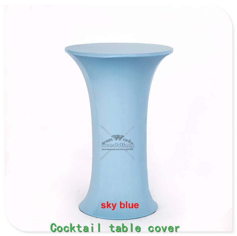New 2430 36 Lycra Stretch Cocktail Poseur Dry Bar Spandex Table Cover Wedding Party Even ...