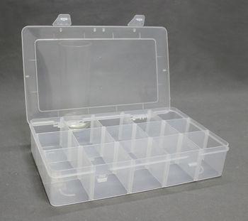 Duży rozmiar duże 15 siatki zdejmowany głębokie komórki do gitary przypadku pudełko do przechowywania organizator pojemnik