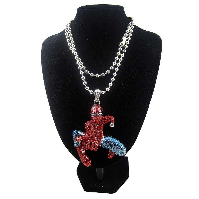 FREE SHIPPING 3D SPIDERMAN PENDANT NECKLACE NEW ICED OUT