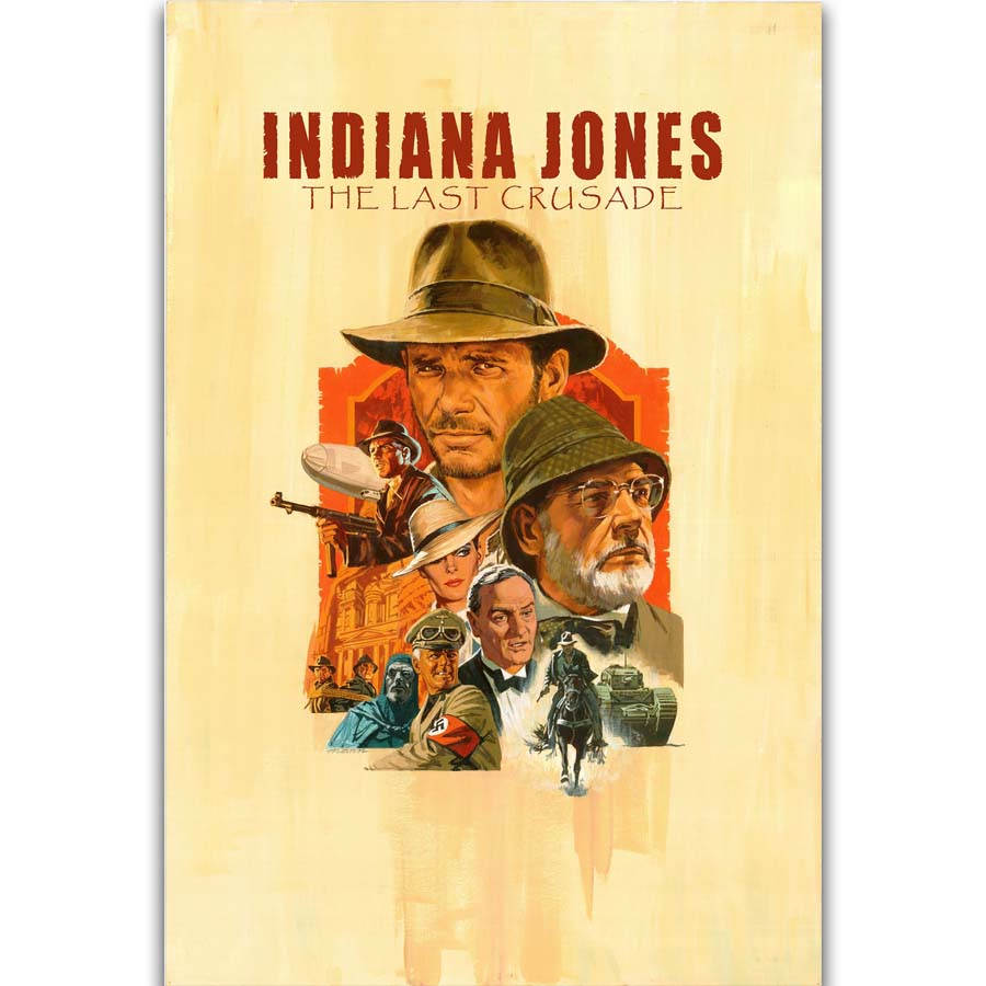 S2769 Indiana Jones And The Last Crusade Classic Movie Wall Art ...