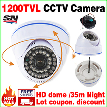 11.11 Big Sale! 1/3cmos 1200TVL INDOOR Dome Surveillance Security HD CCTV Analog Camera 36LED IR-CUT Night Vision 30m AHDL Video
