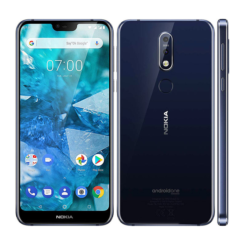 """Global Version Nokia 7.1 Mobile Phone 4G LTE TA-1085 5.84"""" Snapdragon 636 Octa core 4GB RAM 64GB ROM 12MP NFC Android Smartphone"""