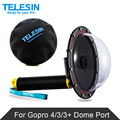 "Original TELESIN 6"" Gopro Dome Port for Gopro Hero 4 3 Underwater Photography Transparent Cover Go pro Action Camera Accessories"