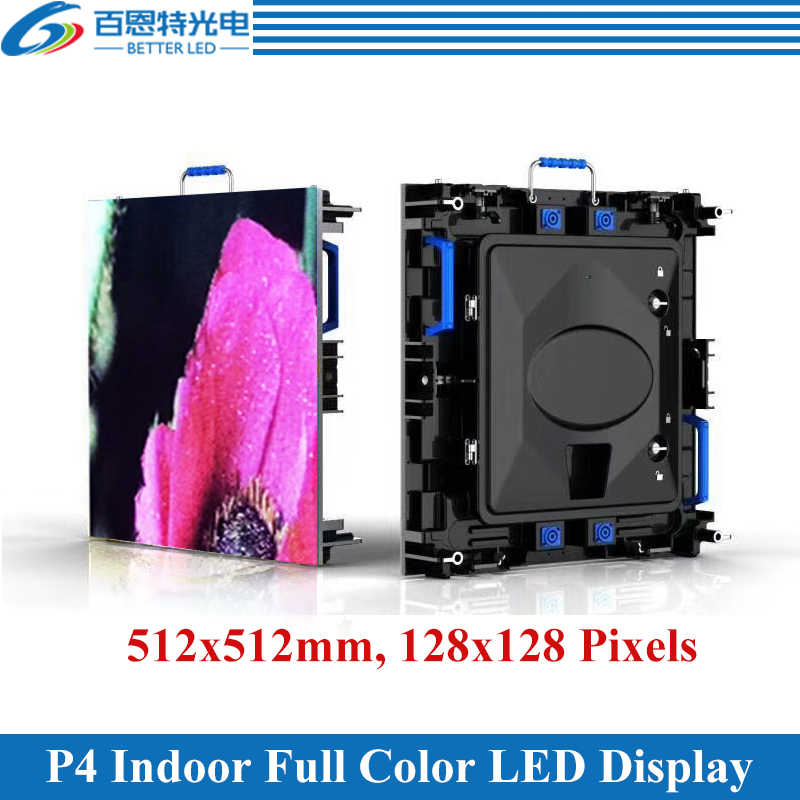 12 teile/los 512*512mm 128*128 pixel druckguss aluminium schrank RGB 3in1 SMD Volle farbe indoor P4 Vermietung LED-display