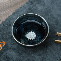 Jianye Oil Drops Tianmu Baihua qi Colorful Silver Fish Cup Iron Tire Pins Cup Kung Fu Tea Set coffee mug tea cup gifts 5ZJ12