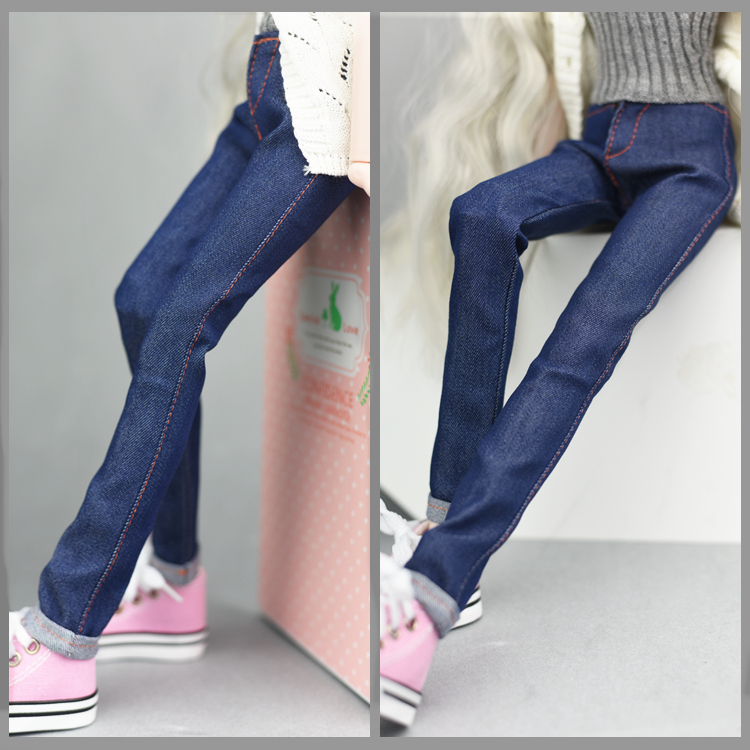 Jeans Pants for 1/4 doll / Blue Jeans Long Pants Outfit Clothes For 1/4 BJD SD Xinyi 45-50CM Doll Gift for girls