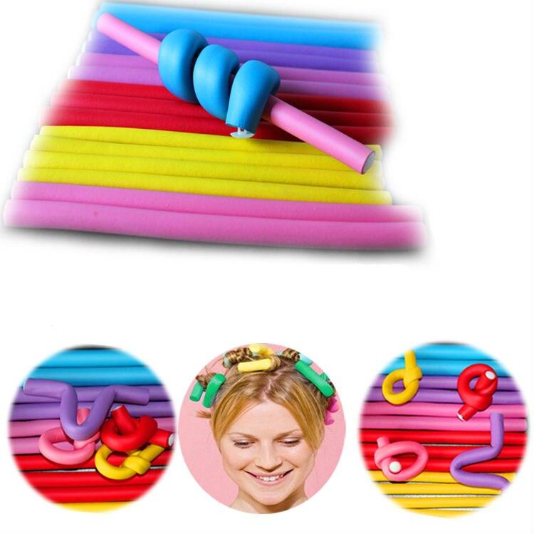 20 Pcs Set Curler Makers Hair Curling Flexi Rods Soft Foam