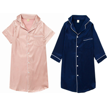 Children Nightgown Summer Spring Fake Silk Ice Cotton Pajamas Vestidos pyjama fille gecelik pajamas for girls Home Cltohing 2018
