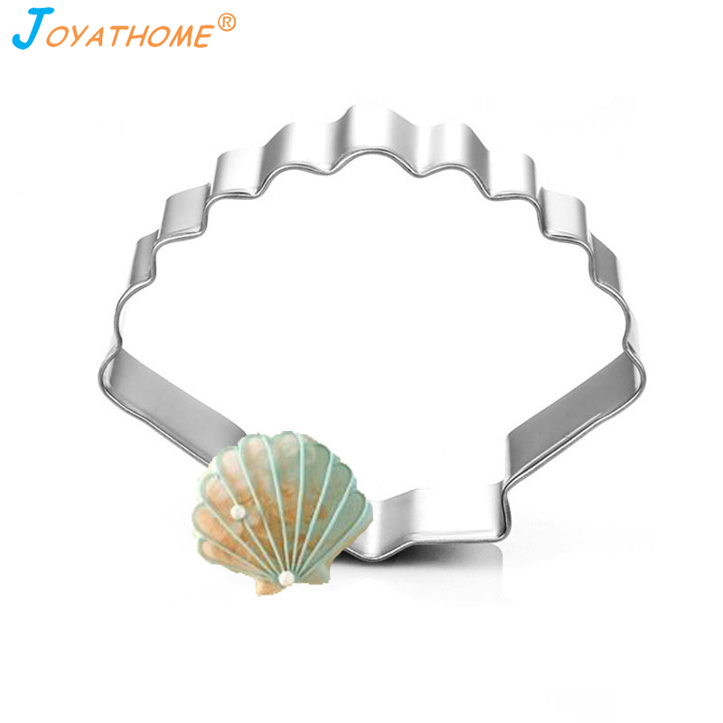 Joyathome DIY Ocean Series Stainless Steel Biscuit Mold Conch Sea Shell Starfish Cookie Cutter Biscuit Cutter Fondant Cutter in Cookie Tools from Home Garden