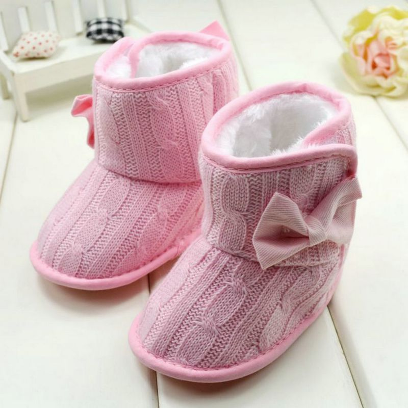 Baby-Girl-Knit-Bowknot-Faux-Fleece-Snow-Boot-Soft-Sole-Kids-Warm-Wool-Baby-Shoes-3-18M-3