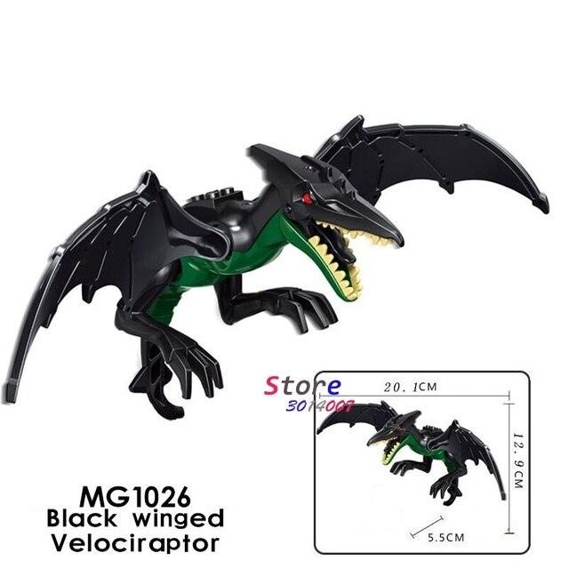 1/Set Mundo Jurássico 2 falta Alado Indoraptor Velociraptor Dinossauro Tiranossauro Rex Ataques Blocos de Construção de brinquedos para crianças