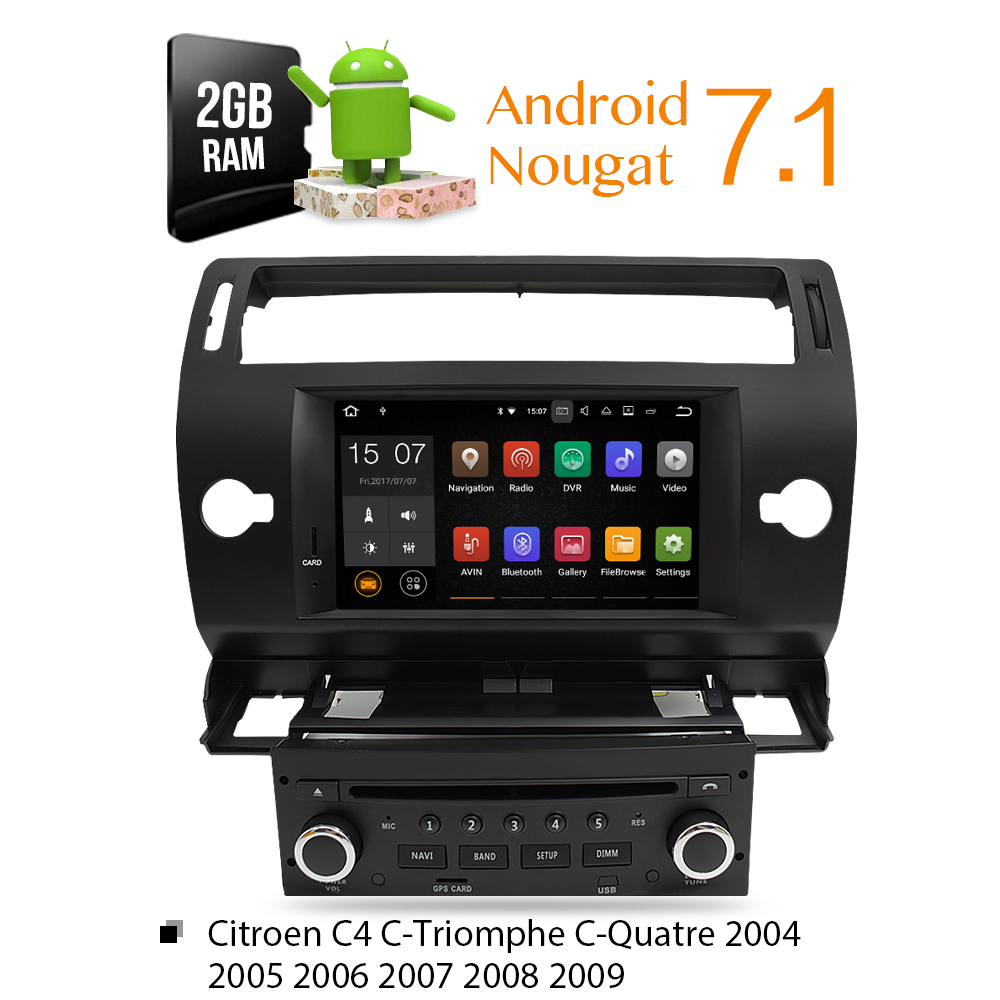 Android 8.0 Car DVD Player GPS Glonass Navi for Citroen C4 C-Triomphe C-Quatre 2005 2006 2007 2008 2009 Radio Audio Stereo втулка велосипедная o lai kt ql y96r задняя кассетная bmx драйвер 9т х 1 8 kt ql y96r 36h