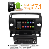 Android 8.0 Car DVD Player GPS Glonass Navi for Citroen C4 C Triomphe C Quatre 2005 2006 2007 2008 2009 Radio Audio Stereo