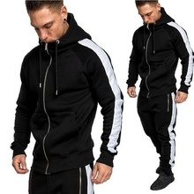 ZOGAA 2019 Men Casual Hooded Sweatshirt And Pants Set Fashion Streetwear Mens Hoodies