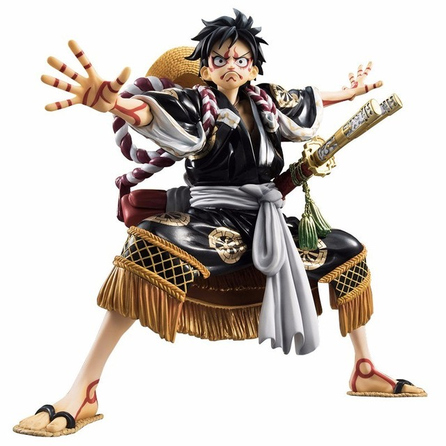 Black Kabuki D Luffy Action Toy Figures Japanese Anime One Piece