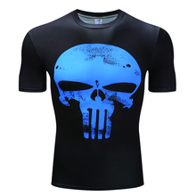 2019 New Mens Summer Skull  Print Men Short Sleeve T-shirt 3D T Shirt Casual Breathable Plus-size