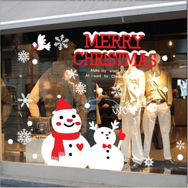 50*70 см Christmashome украшение Снеговик Стены Наклейки На Окна, Стекла, Декоративные настенные Наклейки новый год рождество decorations-9z