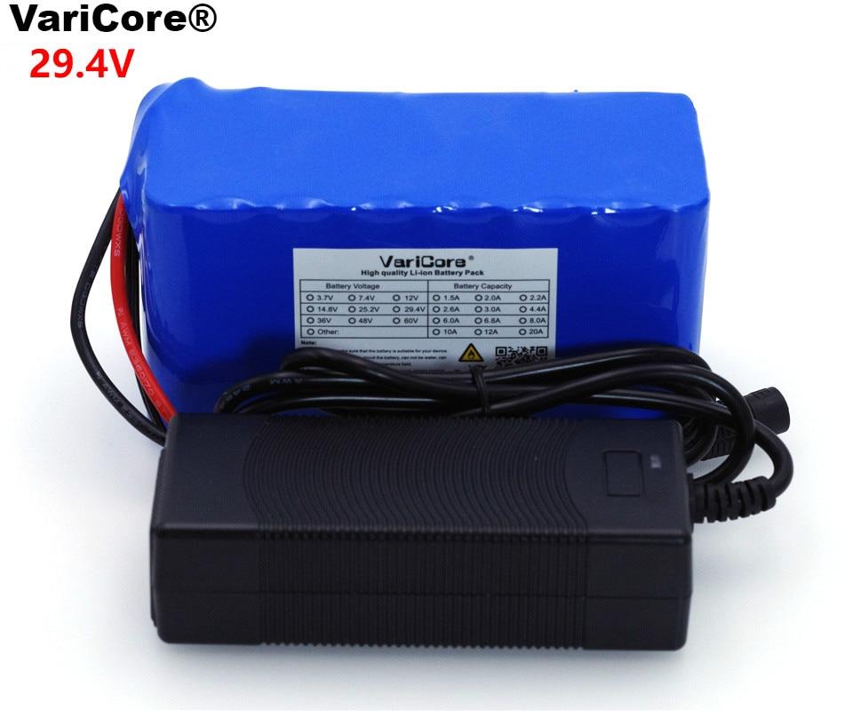 VariCore 24V 6 Ah 7S3P 18650 Battery 29 4 v 6000mAh Electric Bicycle Moped Electric Li