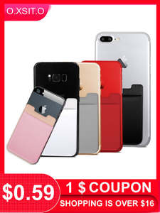 Wallet-Case Cell-Card-Holder Pocket-Stick-Adhesive Phone Elastic Business-Credit Creative