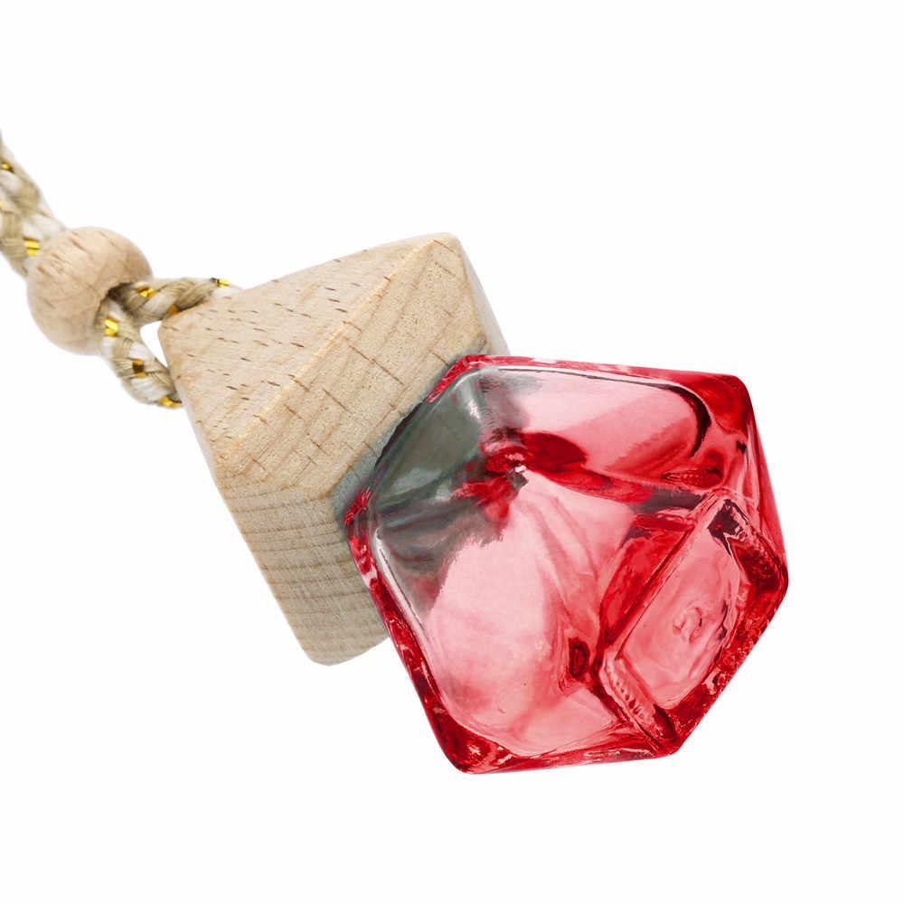 Kongyide Pengharum Ruangan Penyedap untuk Mobil Parfum Mobil Udara Freshener Parfum Asli Dealer Kosong Gantung Botol Kaca May21