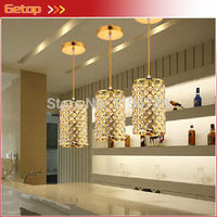 Best Price 3pcs Set Restaurant Lamp Chandelier Modern Creative Single Head Pendant Lamp Corridor Bar Crystal