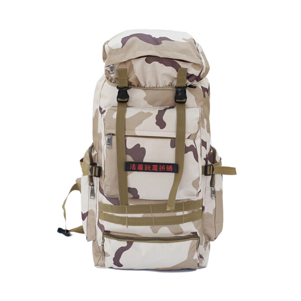 80L Camouflage Mountaineering Bags Outdoor Camping Hiking Trekking Large Tactical Military Backpack Waterproof Hiking Backpacks