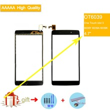 For Alcatel One Touch idol 3 6039Y 6039A 6039K Touch Screen Touch Panel Sensor Digitizer Front Outer Glass Touchscreen NO LCD lcd screen display touch panel digitizer with frame for alcatel one touch idol 3 6045 ot6045 black color free shipping
