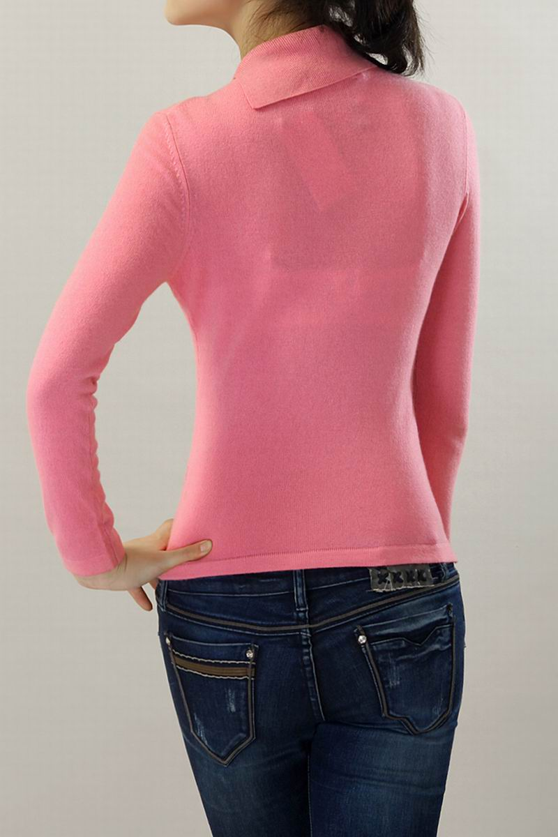 100�shmere Sweater Women Red Pink Printed Pullover Natural ...