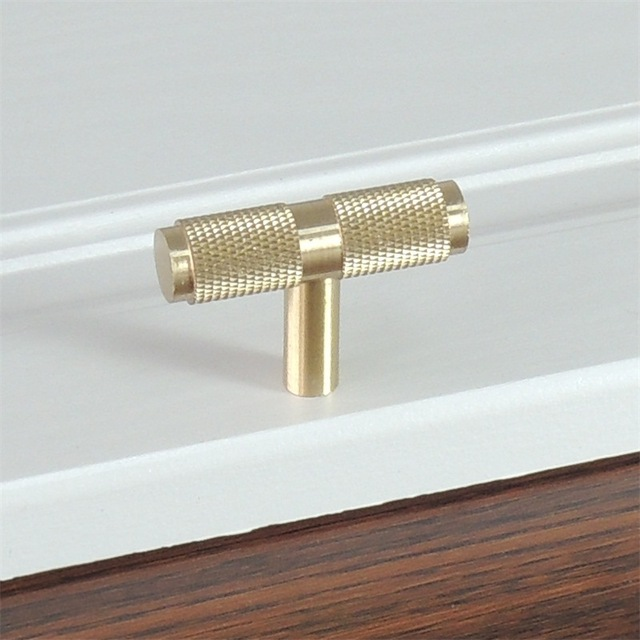 Knurled Textured Modern Cabinet Handles Gold Kitchen Drawer Pulls Bathroom S Br T Bar Hardware