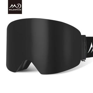 Image 3 - купон  65,78 руб Wildmtain Горнолыжные Очки с Антизапотевающее внутреннее покрытие и 100% от ультрафиолетового A B C излучения до 400нм сноуборда лыжные очки