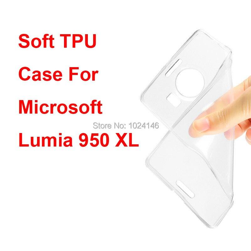 Новый тонкий кристалл прозрачный мягкой ТПУ задняя крышка защиты кожи для Microsoft Nokia Lumia 950 XL 950XL 5.7 дюймов