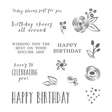 Happy Birthday  Transparent Clear Silicone  Stamp Seal  DIY Scrapbooking photo Album Decorative  A0123