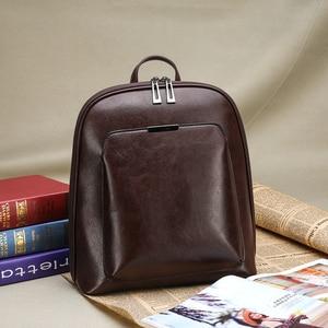Image 4 - Women Backpack high quality PU Leather  Fashion Backpacks Female Feminine Casual Large Capacity Vintage Shoulder Bags