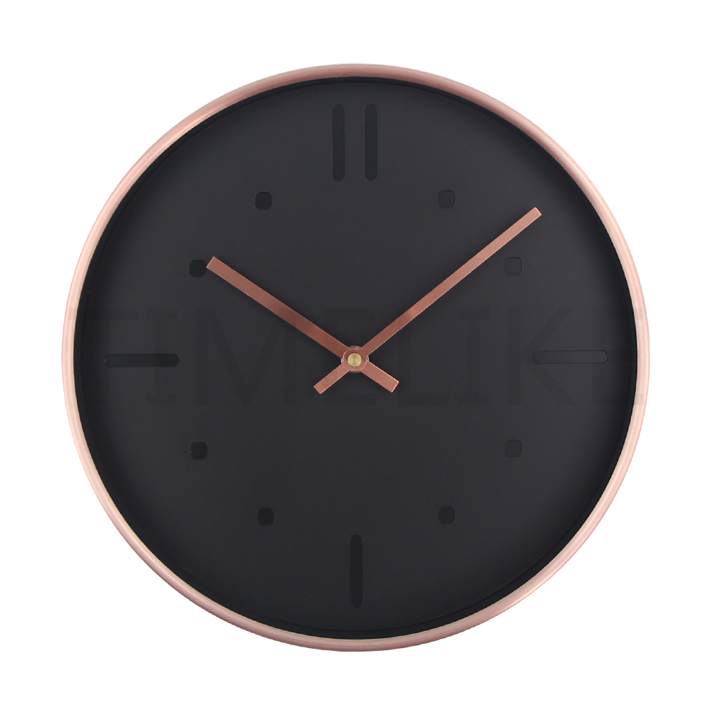 Silent Clock Luxury Style Quartz Metal Wall Clock Modern Designer Wall Clock Watches Quiet for Home