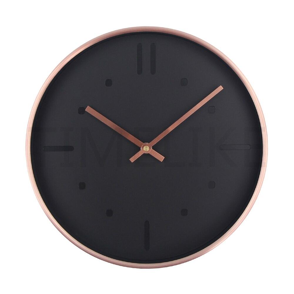 Бесшумные часы Роскошный Стиль Кварцевые Металлические настенные часы Современный дизайнерские настенные часы Тихий для домашнего декора