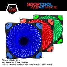 ALSEYE Refrigerador Ventilador de 120mm LED para Caja de la Computadora/Radiador 32 LEDs 12 V DC 3in/1300 pines RPM 4 color disponible