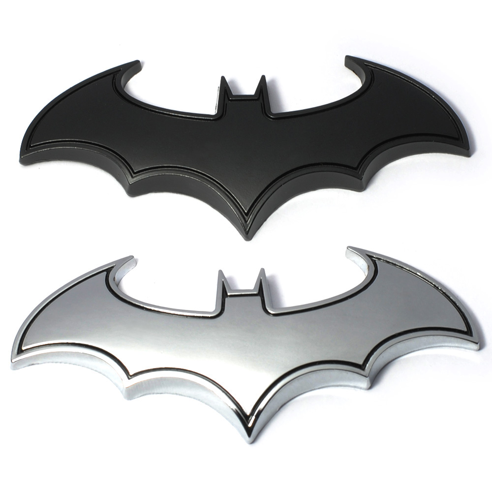 3D Cool Metal Bat man Auto Car Logo Cartoon Sticker Metal Badge Emblem Tail Decal Motorcycle Car Styling Decoration Accessories car sticker sports word letter 3d chrome metal emblem badge decal auto dropshipping 014