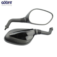 GOOFIT 8mm GY6 50cc 125cc 150cc 250cc Scooter Moped Motorcycle Rear View Mirror Black E036-022