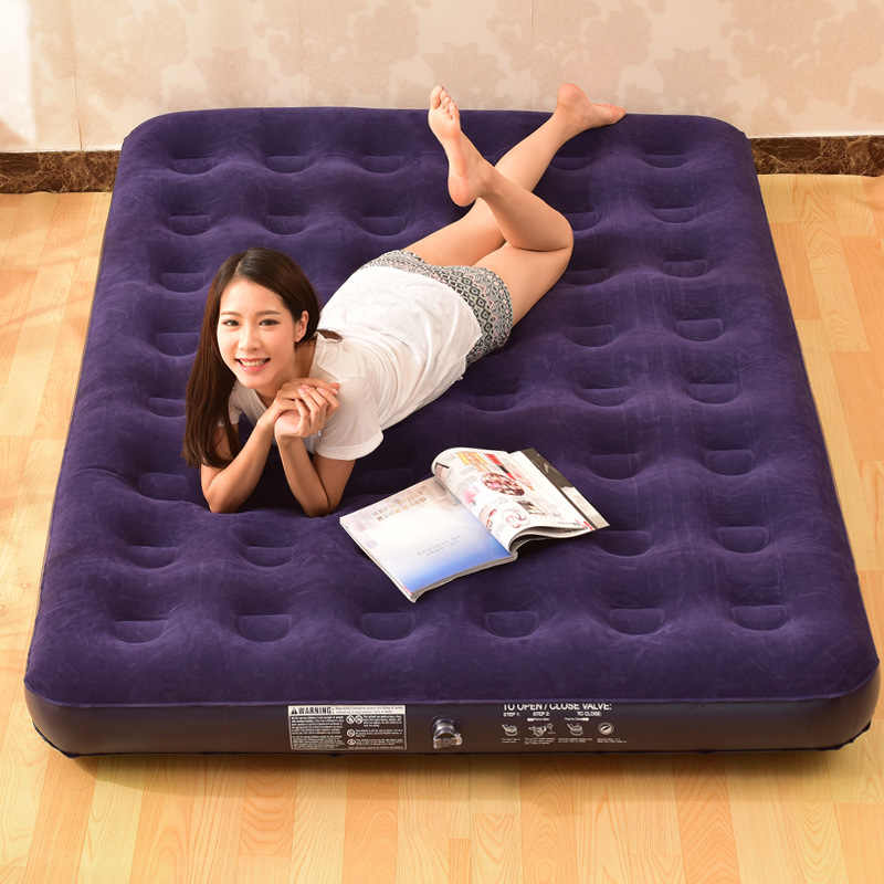 Air Cushion ที่นอนพอง Inflatable Air Bed บ้านกลางแจ้งแบบพกพา OUT แผ่นคู่ Inflatable camping กลางแจ้ง MAT