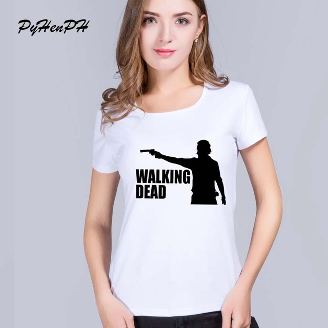 The walking dead T shirt women T Shirt Summer Short Sleeve Tee Tops Ladies Personalized  Custom T-shirt Camisetas women clothes
